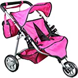 Mommy & Me Twin Doll Stroller with Free Carriage Bag - 9667