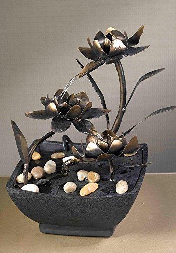 Fountain Cellar Cadono Metal Flower Tabletop Fountain