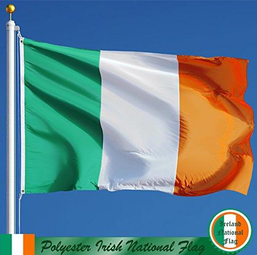G128 - IRISH FLAG 3'x5' PRINTED POLYESTER IRELAND COUNTRY FLAG (Flag Printed Polyester)