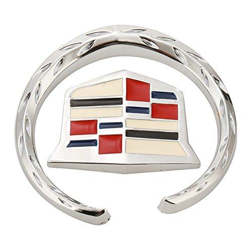 NaNa Compatible for Cadillac Emblem Logo Symbol Metal Decals Labeling Car Stickers, 1 Pack ,6 cm.