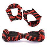 """Scooters Equipment Silicone Case Cover For 6.5"""" 2 Wheels Smart Self Balancing Scooter Hoverboard scooter wheels 6.5"""" models scooter wheels Black+Red"""