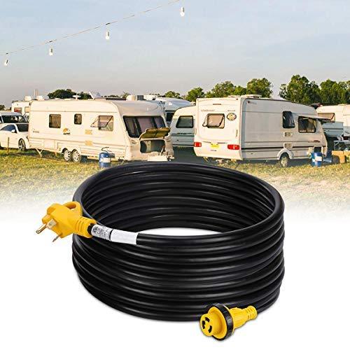 VETOMILE 50Ft 30Amp (TT-30P to L5-30R) RV Extension Cord with Handle, 125V/250V for Trailer Motorhome Camper by VETOMILE (Image #5)
