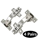 135 Degree Special Corner Folded/Folden Kitchen Cabinet/Cupboard Door Hinges For Combination With Screws;4 pairs