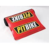 Short Red Pit Bike Soft Impact Absorbing Dense Foam Protector Accessories for Various Wheeled Vehicles w/ Crossbars (7.87in Length)