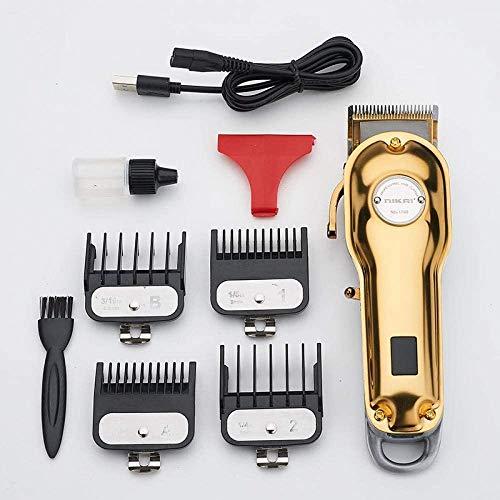 Hair Cutting Kits Household Hair Clipper Metal Body Hair Clipper Hair Salon Dedicated high-Power Electric Fader LCD Digital Hair Cutting Tool