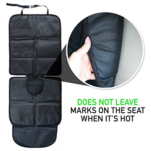 Baby Car Seat Protector with Thickest Padding - Premium Carseat Seat Protectors - Carseat Auto Cover - Seat Protector Under Car Seat - Car Seat Guardian - Leather Car Seat Mat - Booster Seat Protector by Balli (Image #1)