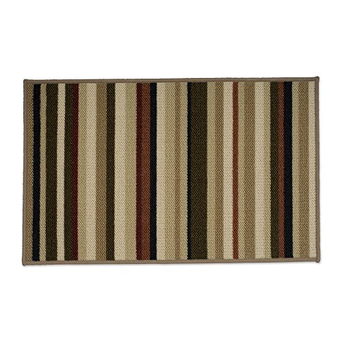 J&M Home Fashions Fashion Contemporary Area Rug, 20x30, Perfect for Bedroom, Living Room, Kitchen, Laundry, Wash Room, Nursery, Loft, Office-Oatmeal Stripes