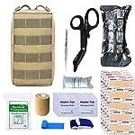TOUROAM Trauma Medical First Aid Kit -Tactical Emergency Israeli Bandage-Survival Military Combat Tourniquet-Small IFAK… 6