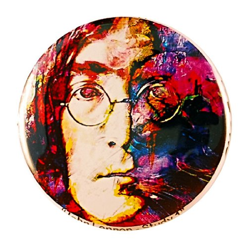 John Lennon Pin - Pinback Button by Mark Lewis Art - jls2 - hand signed collectible (Lewis Hand Signed)