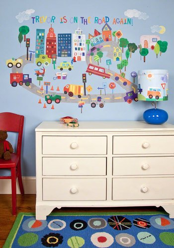 Oopsy Daisy Peel and Place on The Road Again by Jill McDonald, 54 by 45-Inch (Personalized Mcdonald Jill)