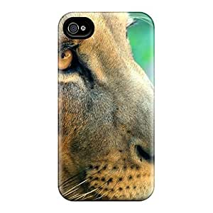 Hot Tpu Cover Case For Iphone/ 4/4s Case Cover Skin - Lion Side Portrait