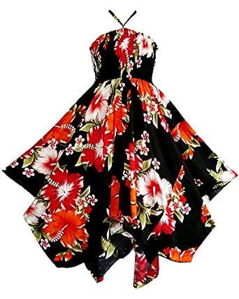 Pikulla Zigzag Hem Women's Bunch Chaba B Gypsy Sundress Orange One Size SML