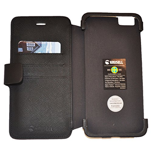 Krusell Malmo Leather Flip Case Suitable for Silent Circle Blackphone 2 BP2 Smartphone