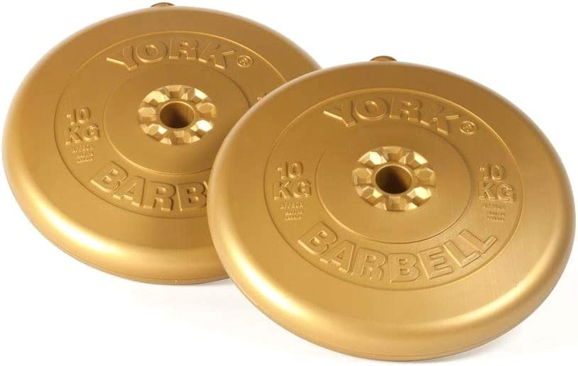York Fitness Vinyl Weight Plates Gold 10 Kg Amazon Co Uk Sports Outdoors