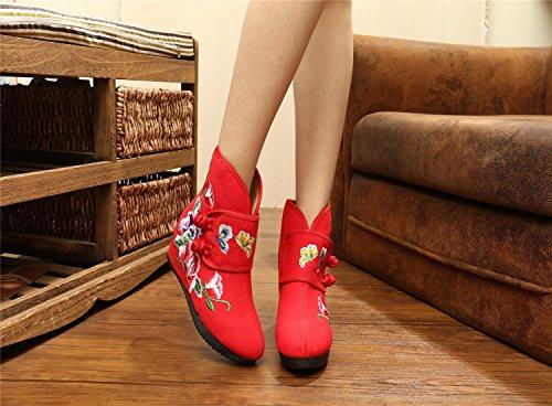 En Hiver Dichotomanthes De Folklorique Thirty Style Fin Khskx Bottes A Chaud Coton Augmenté six coton Brodé qw7axPF