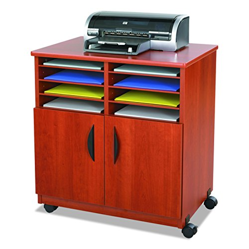 Safco Products 1851CY Mobile Machine Stand with Sorter, Cherry