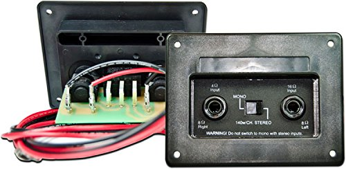 - Mojotone OEM Stereo/Mono Cabinet 4x12 Wired Jack Plate (Double 1/4