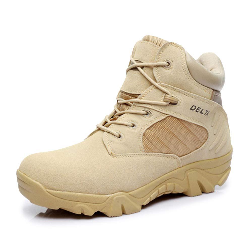 QIKAI Desert-Kampfstiefel Niedrig-Cut-Stiefel Outdoor Army Fan Turnschuhe Taktische Stiefel Wüstenstiefel