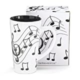 Burton & Burton-Jazz It Up Tall Ceramic Mug Musical Notes Holds 16 Oz