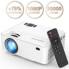 DBPOWER Mini video projector is the best choice. 1. Why choose DBPOWER Rd810 portable mini projector? Upgraded LED light technology - more bright than other projectors updated fan sound and system - The fan noise is lower than other basic LED...