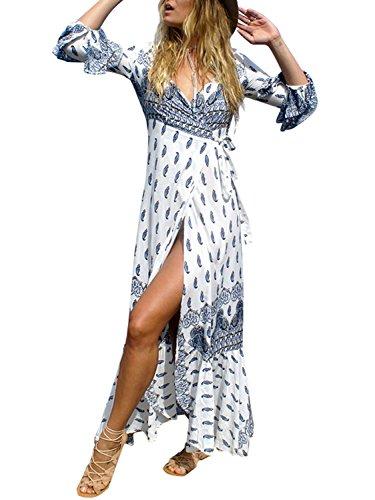 Ruffled Wrap Dress - 3