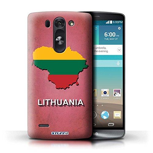 Kobalt® Imprimé Etui / Coque pour LG G3 S (Mini)/D722 / Lituanie/Lituanien conception / Série Drapeau Pays