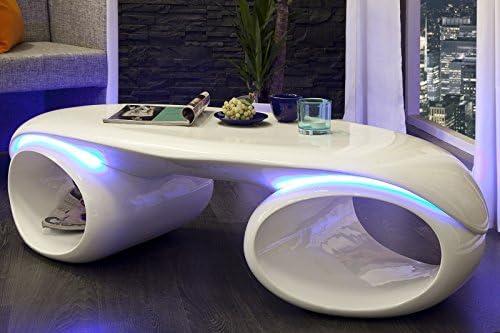 plus de photos 0bcf6 8b49c Table basse futurix Blanc - Avec éclairage LED: Amazon.fr ...
