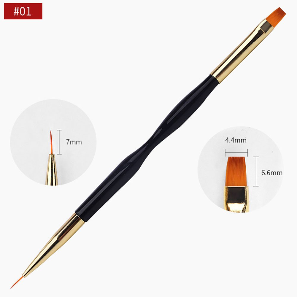 EDTara Nail Polish Brush Nail Art Dotting Painting Drawing Pen Double-headed Polish Brush Nail Beauty Tool 1