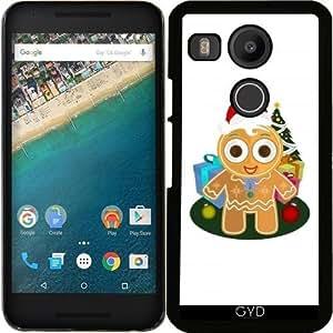 Funda para Google Nexus 5X (LG) - Navidad - Hombre De Pan De Jengibre by Adamzworld