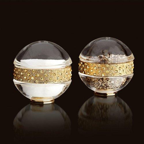 Lobjet Yellow Crystals (L'Objet Spice Jewels Pave Band Salt & Pepper Set, Gold)
