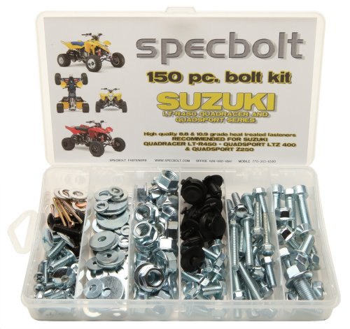 150pc Specbolt Suzuki LT-R450 LTZ400 Z250 ATV Bolt Kit for Maintenance & Restoration OEM Spec Fasteners LT450R LTR450 Z400 ATV (Suzuki Ltr450 Specs)