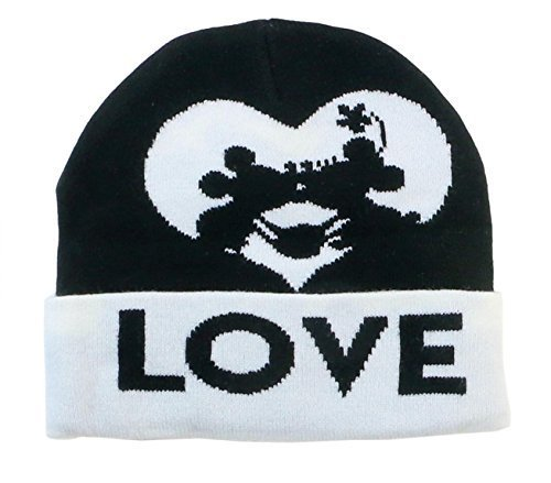 Disney Mickey Mouse and Minnie Mouse Kissing Beanie