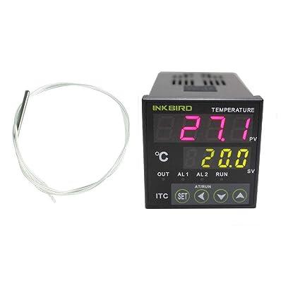 Inkbird Dual Relés Digital PID Temperatura Controlador Termostato ITC-100RL+PT100 Sonda Sensor