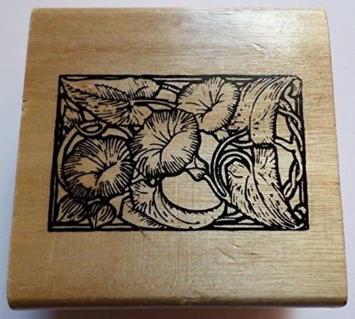Botanical Flower Garden Framed Anita's Wooden Rubber -