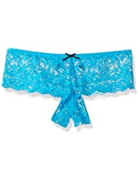 DreamGirl Women's Plus-Size Plus Size Cheeky Open Crotch Panty