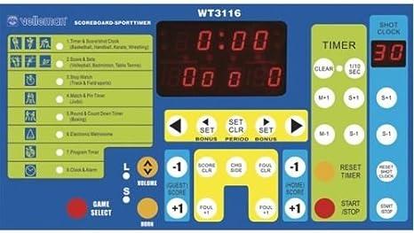 Panel marcador cronómetro para cualquier deporte: baloncesto, judo, balonmano...: Amazon.es: Deportes y aire libre