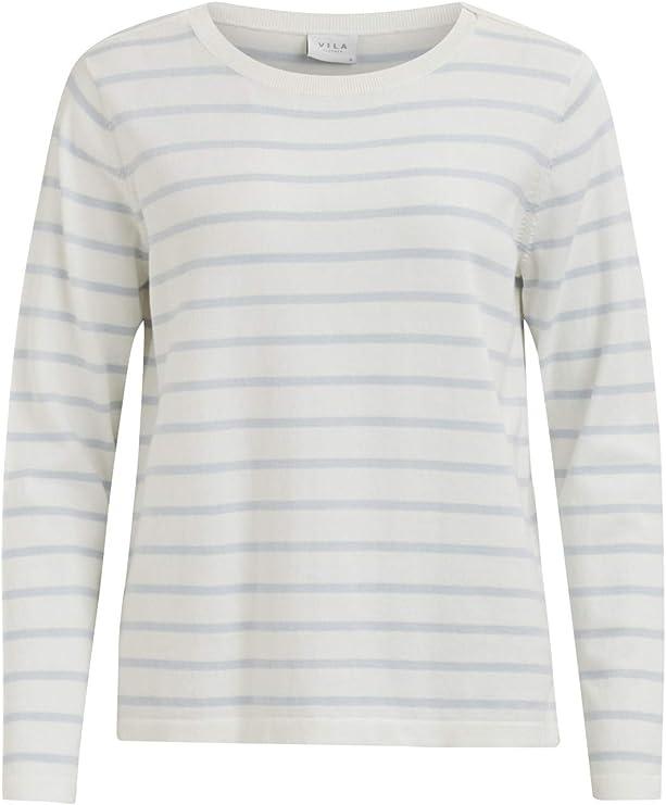Vila Vistrike Knit Top-Noos Camisa Manga Larga para Mujer