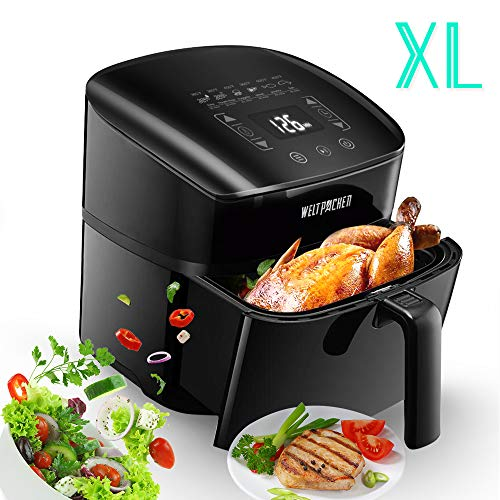 Power Air Fryer XL (50 Recipes), 6Qt Large Capacity, 1800W Electric Hot Air Fryer, Oilless Healthy Air Fryer Oven, 6 Cooking Preset, LED Digital Toutchscreen, Nonstick Basket, ETL/UL Approved.