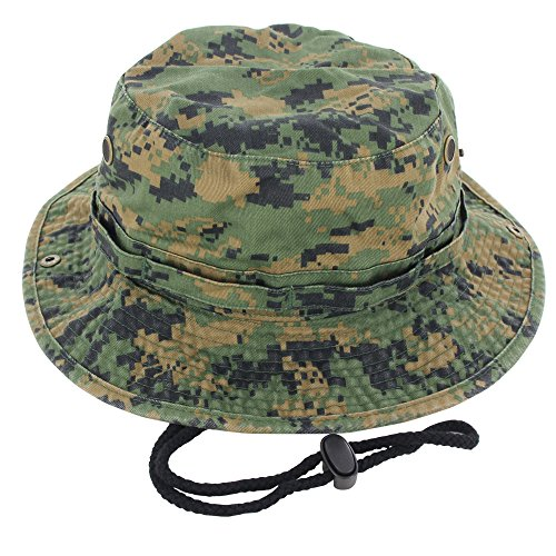 100% Cotton Boonie Fishing Bucket Hat with String (Blazing Bucket)