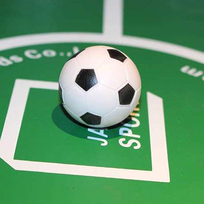 Omenluck - Juego de 8 Pelotas de fútbol de Repuesto para futbolín, Color Blanco y Negro: Amazon.es: Deportes y aire libre