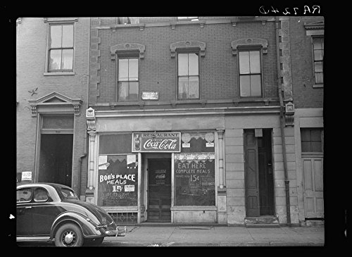 1935 Photo Restaurant and roominghouse. Hamilton County, Ohio. Court Street, or