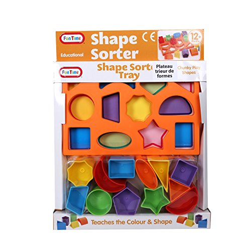 Tootsie Baby, Shape Sorter Tray, 11 inches, Multicolor