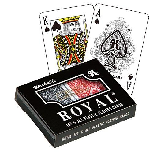 Royal Large Numbered Plastic Bridge Size Cards - Double Deck - Index Double Deck Bridge