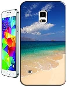 Beautiful Beach Sunshine Sea Water Clean White Cloud Design For Samsung Galaxy S5 i9600 No.10
