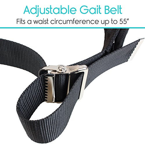 Transfer Belt with Leg Loops by Vive - Medical Nursing Safety Gait Assist Device - Bariatrics, Pediatric, Elderly, Occupational & Physical Therapy - Long Strap & Quick Release Metal Buckle - 55 Inch by Vive (Image #3)