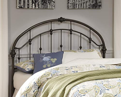 Ashley Furniture Signature Design - Nashburg Metal Headboard - Queen Size - Component Piece - Vintage Casual - Headboard…