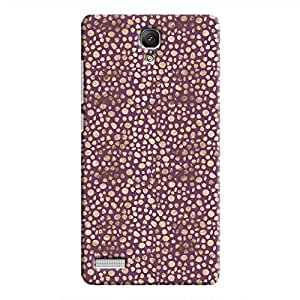 Cover It Up - Brown Purple Pebbles Mosaic Redmi Note 4G Hard Case