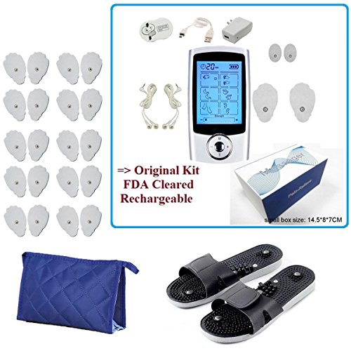 FDA cleared 16 Modes TENS unit Portable Electro Massage Therapy Device Pulse Impulse Massage Comb Massage Shoes Extra 20 Pads