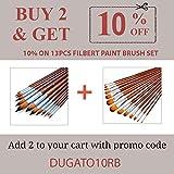 Artist Watercolor Paint Brushes Set 13pcs - Round