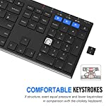 Arteck Universal Bluetooth Keyboard Stainless Steel Full Size UK Layout Wireless Keyboard for Windows, iOS, Android…